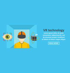 vr technology banner horizontal concept vector image