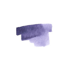 Watercolor brush stroke stains and blots vector