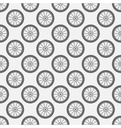 Wheels seamless pattern vector image