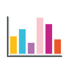White background with statistical graphs colour vector