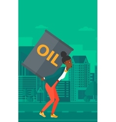 Woman with oil can vector