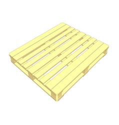 Wooden pallet isolated on white vector