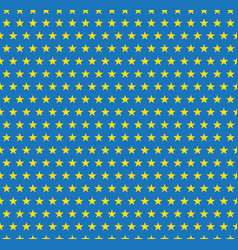 yellow stars pattern on blue background vector image