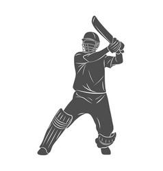 abstract batsman playing cricket vector image
