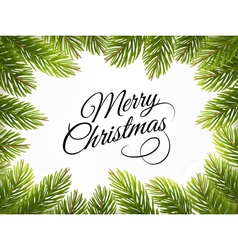 Christmas retro background with tree branches vector image vector image