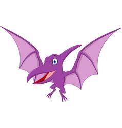 happy pterodactyl cartoon vector image