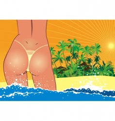 sexy girl in bikini vector image vector image