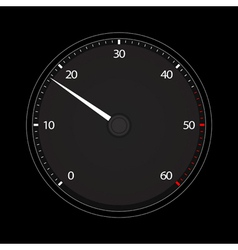 tachometer icon vector image vector image