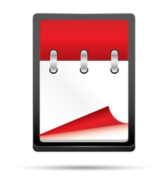 empty calendar vector image