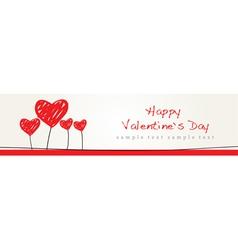 Valentine Design Background vector image vector image