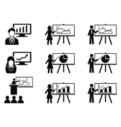 black Business lecture seminar meeting vector image vector image