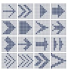 dots mosaic arrows vector image vector image
