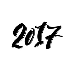 Happy New Year Calligraphy Lettering Holiday vector image vector image