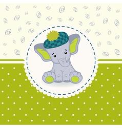 little elephant baby vector image vector image
