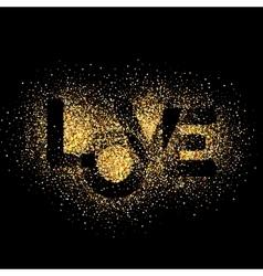 LOVE gold letters Elegant background vector image vector image