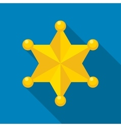 Sheriff star icon vector image