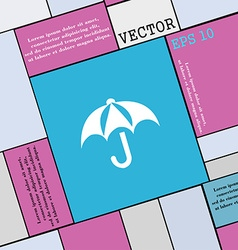 Umbrella icon sign Modern flat style for your vector image