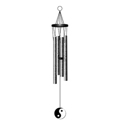 wind chime vector image