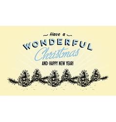 354Retro Vintage Merry Christmas Tin Sign vector image vector image