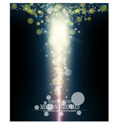 abstract million fireflies dark blue vertical vector image