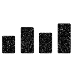 Bar Graph Grainy Texture Icon vector image vector image
