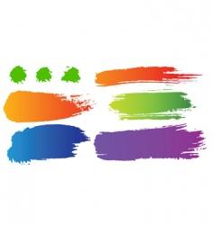 set of color blots vector image vector image
