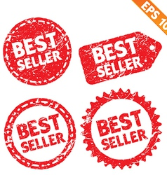 Stamp stitcker best seller product tag collection vector image vector image
