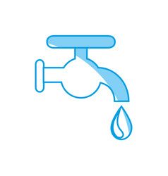 water faucet icon vector image vector image