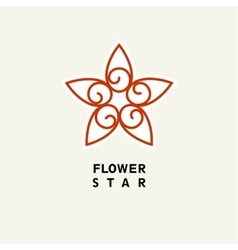 Abstract Flower Template for logo emblem vector