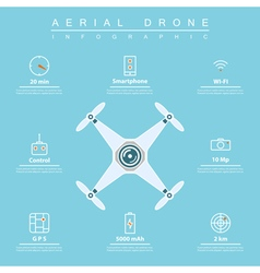 Aerial drone infographic vector