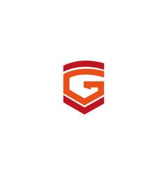 alphabet g logo vector image