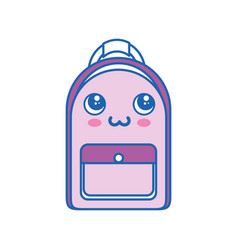 Backpack kawaii cartoon vector