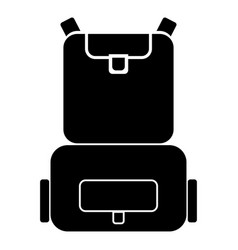 backpack the black color icon vector image