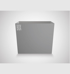 blank gray cube on white background 3d box vector image