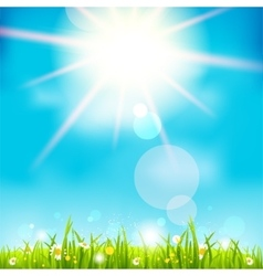 Bright summer midday vector image