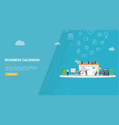 business calendar concept for website template vector image