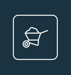 carry cart outline symbol premium quality vector image