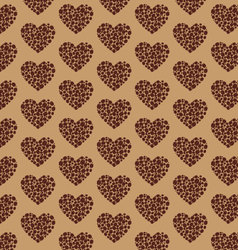 Coffee Pattern heart vector image
