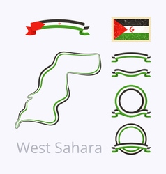 Colors of Western Sahara vector image