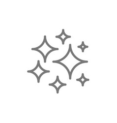 cosmos stars line icon vector image