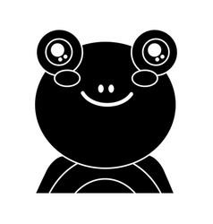 cute portrait frog animal baby vector image