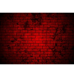 Dark red grunge brick wall background vector