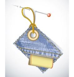 denim garment tag vector image