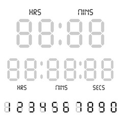 digital clock calculator digital numbers alarm vector image