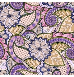 Doodle seamless pattern in with doodles vector image
