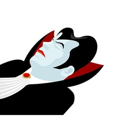 Dracula sleep count dracula on white background vector