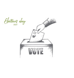 Election day concept hand drawn isolated vector