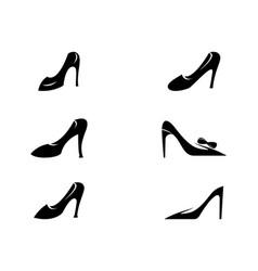 elegant shoe icon vector image