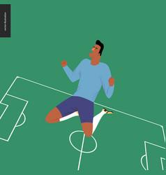 european football soccer player vector image