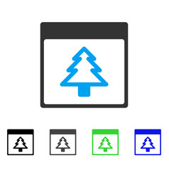 Fir tree calendar page flat icon vector